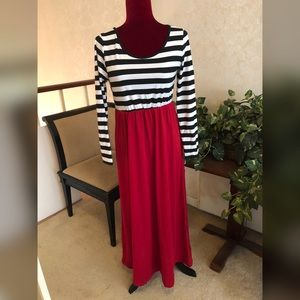 Striped Maxi Dress, Brand New without Tags